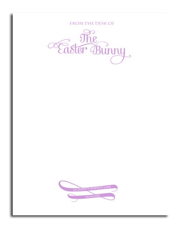 Official Easter Bunny Letterhead